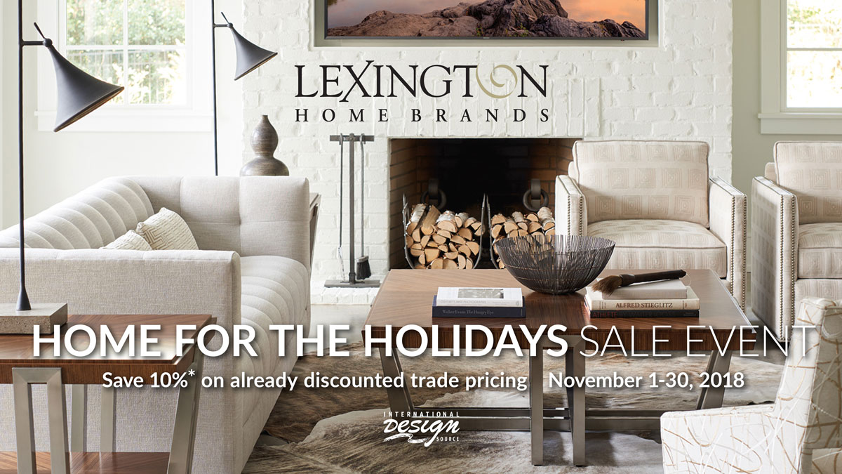 Lexington Home for the Holidays Sale at IDS November 1-30,2018