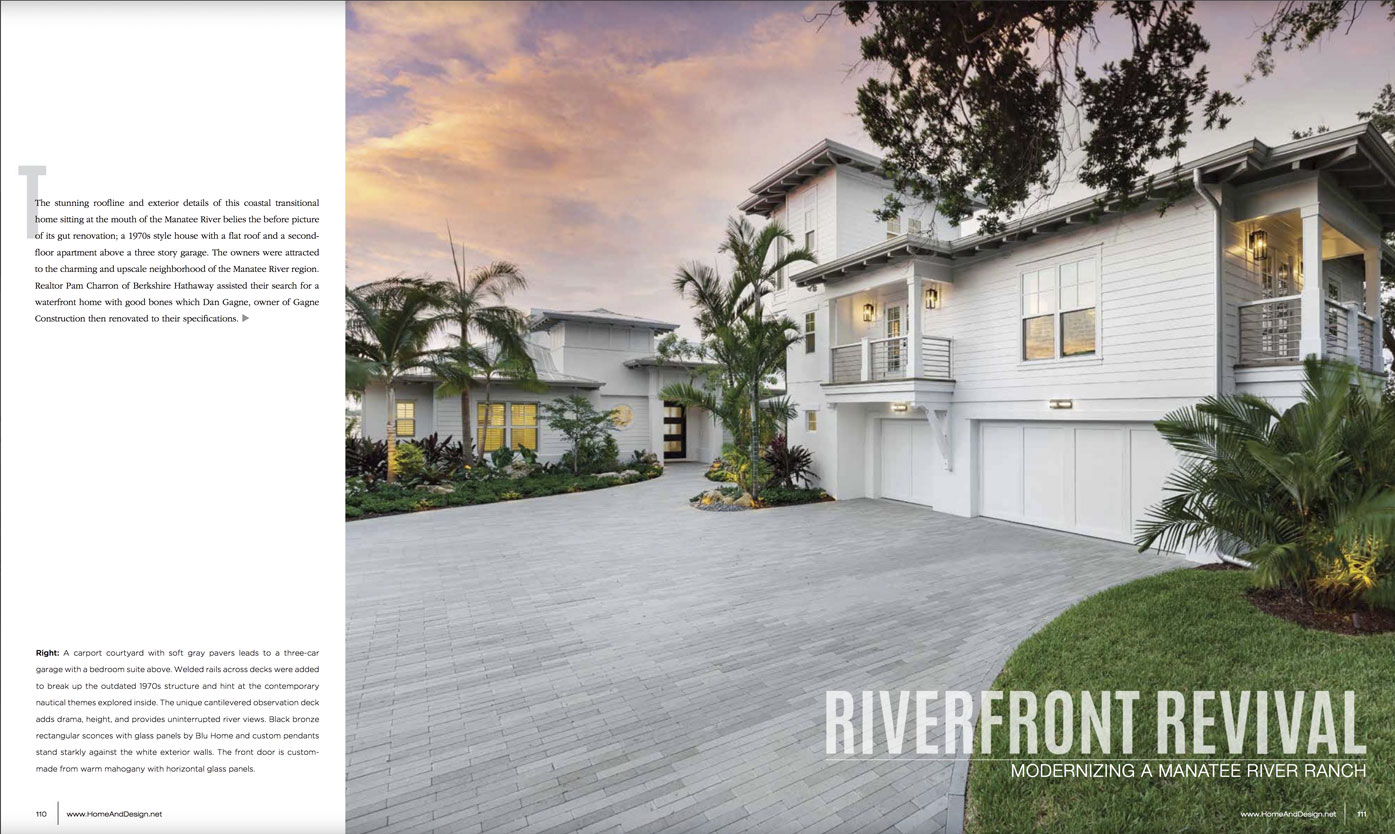 Home & Design Magazine - Riverfront Revival - Suncoast Florida - Oct2018